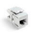 Leviton 61110-RW6 eXtreme® QuickPort® Category 6 Modular Connector; Snap-In/Panel/Wall Plate Mount, 8P8C, White