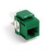 Leviton 61110-RV6 eXtreme® QuickPort® Category 6 Modular Connector; Snap-In/Panel/Wall Plate Mount, 8P8C, Green