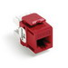 Leviton 61110-RC6 eXtreme® QuickPort® Category 6 Modular Connector; Snap-In/Panel/Wall Plate Mount, 8P8C, Crimson Red
