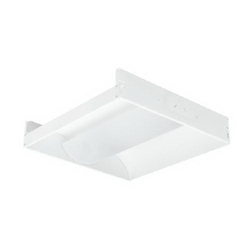 Hubbell Lighting / Columbia STE22217GMPOEUFO835C388 Stratus® 2-Light Lay-In-Grid Mount STE E-Series Indirect T8 Linear Fluorescent Recessed Troffer; 17 Watt, High-Gloss Baked White Enamel, Lamps Included