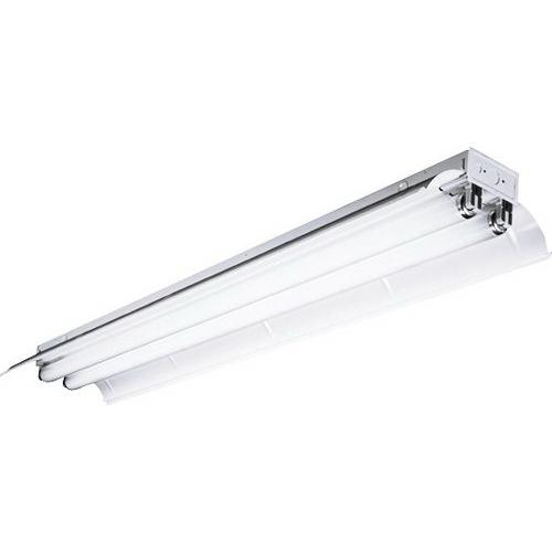 Hubbell Lighting / Columbia CSR4-232-ST-EU 2-Light Individual/Continuous Row Mount Symmetric Industrial Fluorescent Light; 32/30/28/25 Watt, White Painted