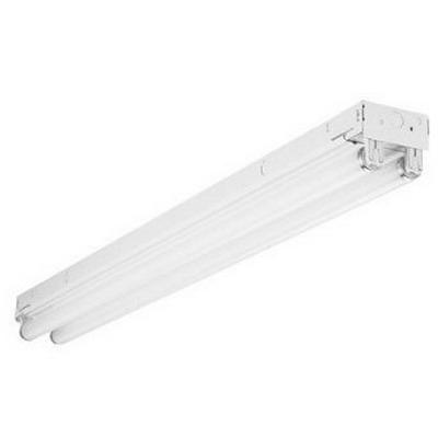 Cooper Lighting APS-NS232 APS-NS Series 2-Light Surface Mount General Purpose Narrow Fluorescent Striplight Fixture; 64 Watt, Baked White Enamel