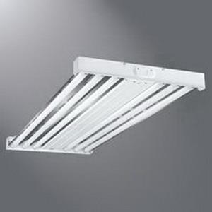 Cooper Lighting HBL432NUNVL8850EB81PLUSPLUS Metalux® 4-Light Suspended Mount HBL Series Fluorescent High Bay Fixture; 32 Watt, White Baked Enamel