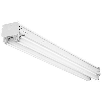 Cooper Lighting SSF-296HO-120V-EB21-U Metalux® 2-Light Ceiling SSF Series Standard Fluorescent Strip Fixture; 110 Watt, Baked White Enamel