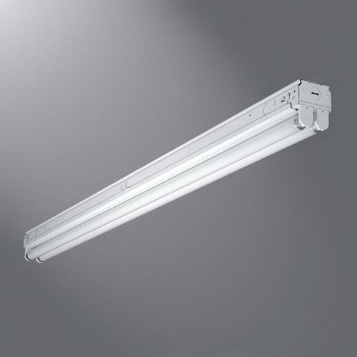 Cooper Lighting SNF-117-UNV-EB81-U Metalux® 1-Light Heavy Duty Narrow Fluorescent Striplight Fixture; 17 Watt, Baked White Enamel, Lamp Not Included
