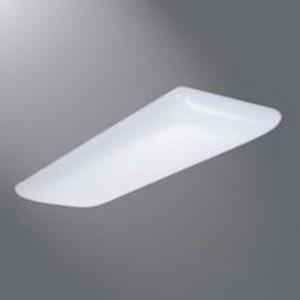 "Cooper Lighting WSC-432-D-W-UNV-EB81-U Metaflux 4-Light Ceiling Mount Softside Cloud Fluorescent Wraparound Fixture 32 Watt, White Baked Enamel, Lamp Not Included,"""