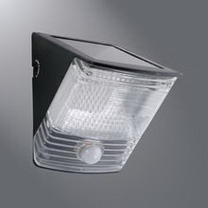 Cooper Lighting MSLED100 Solar Powered LED Floodlight Plastic- Black- LED Lamp-