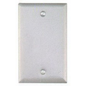 BWF/Teddico BC-1WV 1-Gang Weatherproof Blank Cover; Box Mount, Stamped Steel, White
