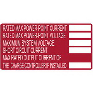 Hellermann Tyton 596-00253 Printable Solar Label 4 Inch Width x 2 Inch Height- White/Red- 50/Roll-