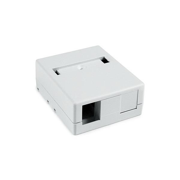 Hellermann Tyton SMBDUAL-W Surface Mount Box; Screw Mount, PVC, White, (2) Port
