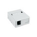 Hellermann Tyton SMBDUAL-W Surface Mount Box; Screw Mount, PVC, White, (2) Port