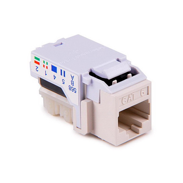 Hellermann Tyton RJ45FC6-W Category 6 RJ45 Keystone Modular Jack; White