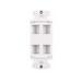 Hellermann Tyton FPRMF4-W Faceplate; Junction Box/Wall, (4) Port, ABS, White