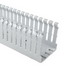 Hellermann Tyton SLHD2X2W4 Non-Adhesive High Density Type SLHD Slotted Wall Wiring Duct; 6 ft Length x 0.4 Inch Width x 2.060 Inch Height, PVC, White