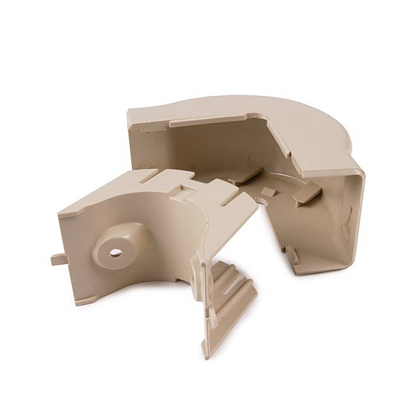 Hellermann Tyton TSRP1I-29-1 External Corner Cover; Ivory, PVC, 10/PK