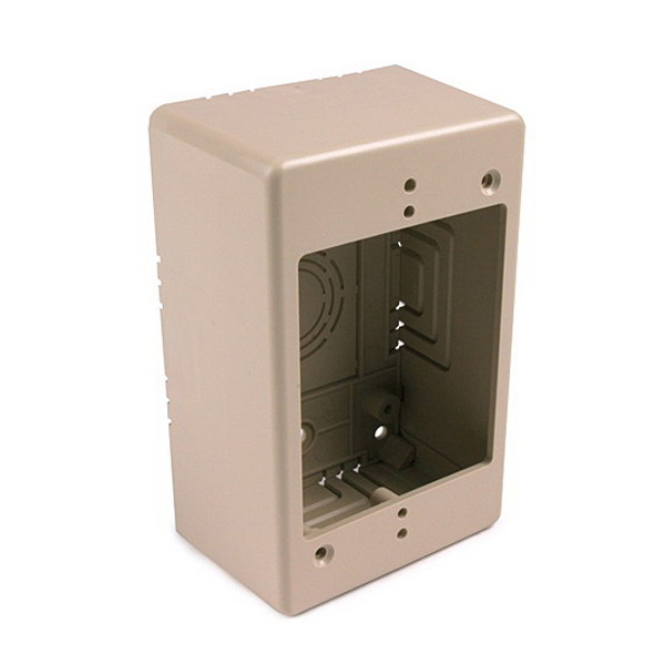 Hellermann Tyton TSRPI-JB2 Single-Gang Junction Box; 4.750 Inch Length x 3 Inch Width x 2.77 Inch Height, PVC, Ivory, 1/Pack
