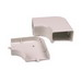 Hellermann Tyton TSRP3FW-25-1 Elbow Cover; Office White, PVC, 10/PK