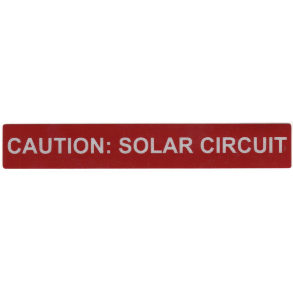 Hellermann Tyton 596-00247-1 Pre-Printed Reflective Solar Label 6.500 Inch Length x 1 Inch Width- Red- Vinyl-