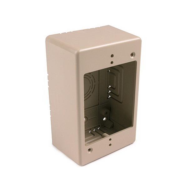 Hellermann Tyton TSRI-JB2 Single Gang Junction Box; 2 Inch Depth, Ivory, 1/Pack