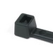 Hellermann Tyton T50I0C2 Standard Cable Tie; 12 Inch Length, Polyamide 6.6, Plastic Pawl, Black, 50 lb Tensile Strength, 100/Bag