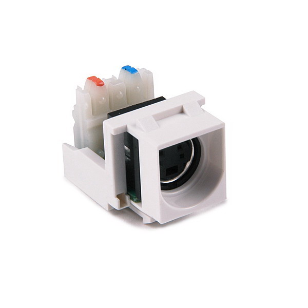 Hellermann Tyton S110INSERT-W S-Video to 110 Punch Down Module; White