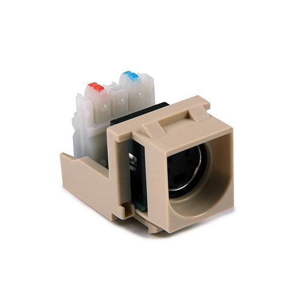 Hellermann Tyton S110INSERT-I S-Video to 110 Punch Down Module; Ivory