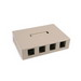 Hellermann Tyton SMBQUAD-I Surface Mount Box; PVC, Ivory, (4) Port