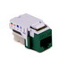Hellermann Tyton RJ45FC5E-GRN Category 5e Keystone Modular Jack; 10P8C, Green