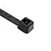 Hellermann Tyton T18L0C2 Weather Resistant Cable Tie; 8 Inch Length, Polyamide 6.6, Plastic Pawl, Black, 18 lb Tensile Strength, 100/Bag