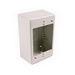 Hellermann Tyton TSRPFW-JB2 Single-Gang TSRP-JB2 Junction Box; 4.750 Inch Length x 3 Inch Width x 2 Inch Depth, PVC, Off White, 1/Pack