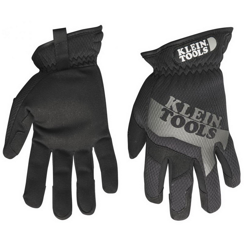Klein Tools 40205 TrekDry™ Journeyman™ Utility Gloves; Medium, Elastic Cuff