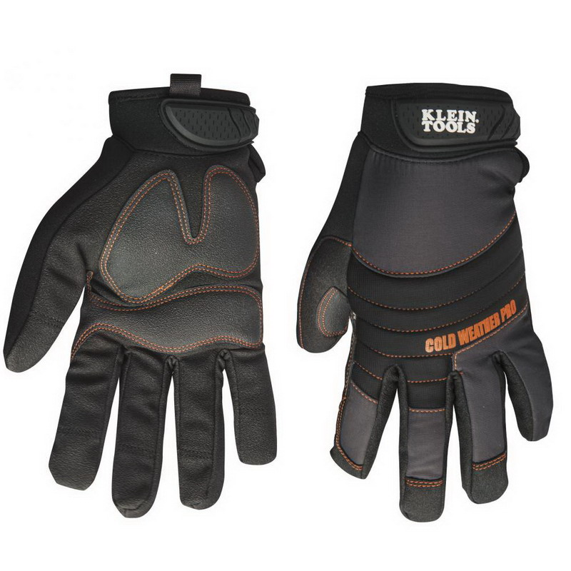 Klein Tools 40212 Cold Weather Utility Pro Gloves; Large, Molded Rubber Closure