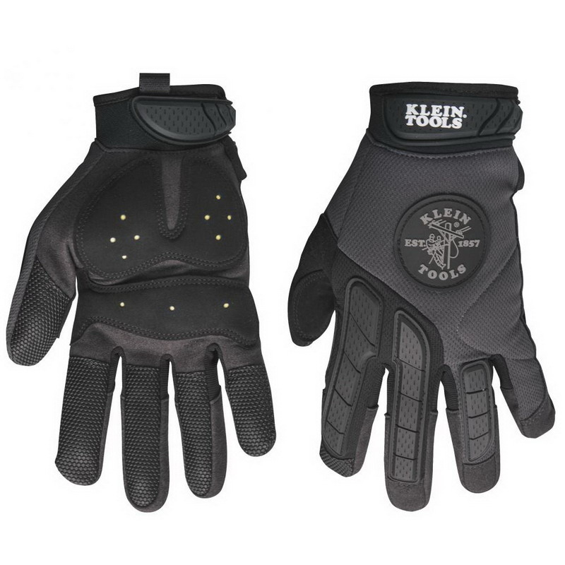 Klein Tools 40215 TrekDry™ Poron® Journeyman™ Utility Gloves; Large, Neoprene Cuff, Soft Molded Rubber Closure