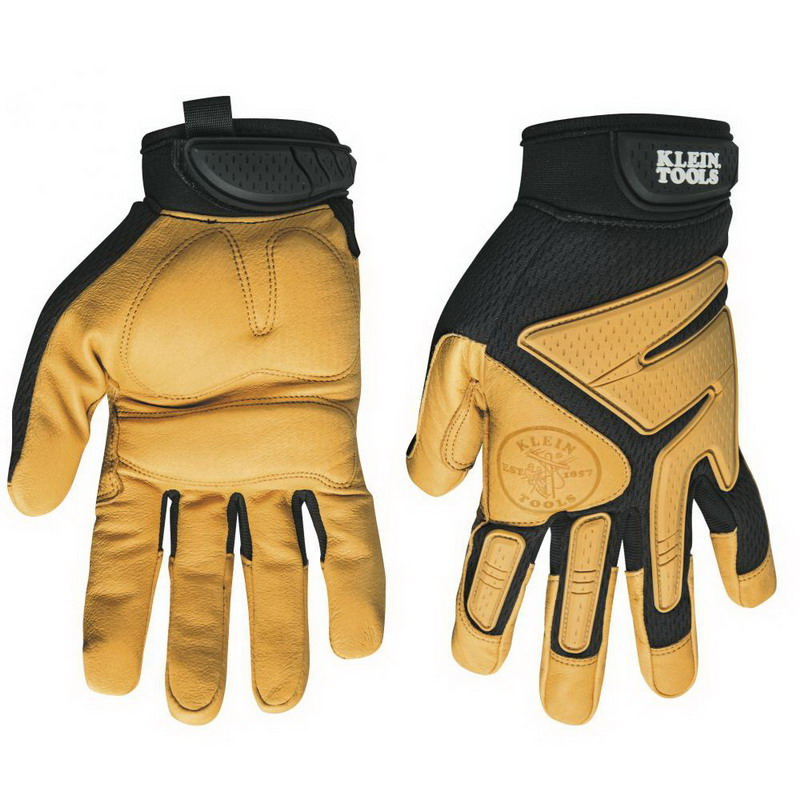 Klein Tools 40221 TrekDry Journeyman Utility Gloves Large  Neoprene Cuff  Soft Molded Rubber Closure