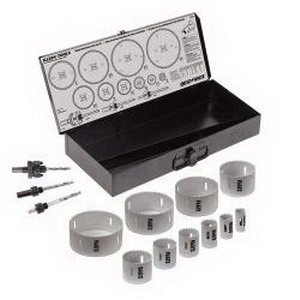 Klein Tools 31645 Large Size Hole Saw Kit Carbide Tipped-