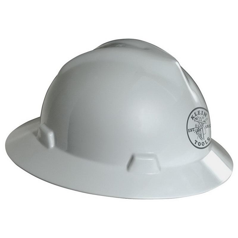 Klein Tools 60031 V-Gard® Hard Hat; Polyethylene Shell, White
