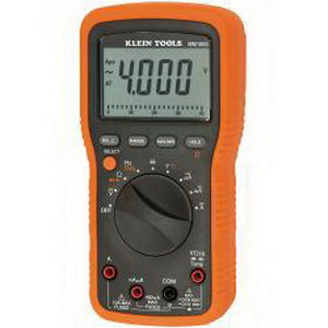 """Klein Tools MM1000 Electricians Multimeter 1000 Volt AC/DC, 10 Amp AC/DC, 499.9 Kilo Hz, 40 mega-ohm,"""""""