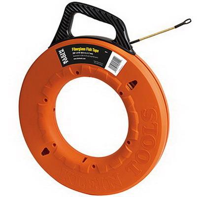 """""Klein Tools 56014 Non-Conductive Fish Tape 200 ft Length, Fiber Glass,"""""" 600272"