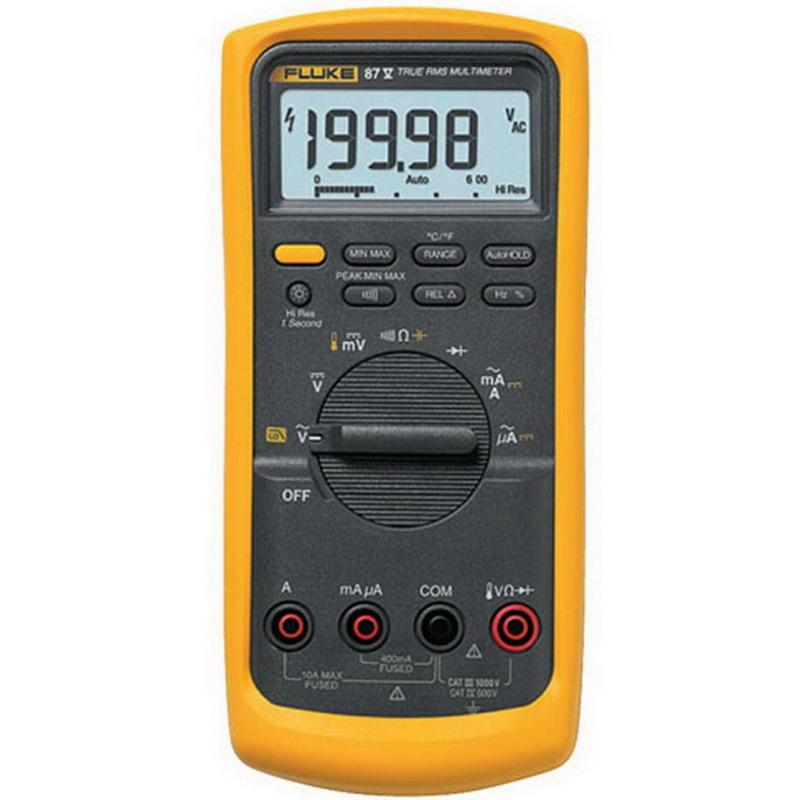 """Fluke FLUKE-87-5 True-RMS Multimeter 0 - 1000 Volt, 10 Amp, 200 Kilo Hz, 50 mega-ohm,"""""""