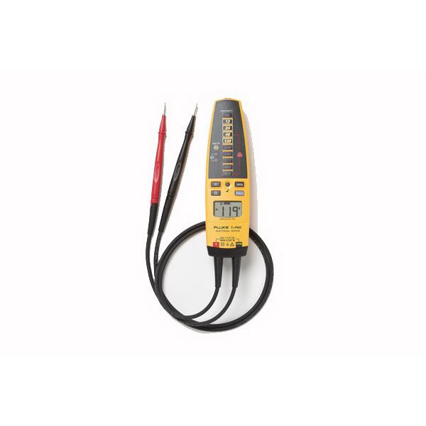 Fluke T+PRO Electrical Tester; 12 - 600 Volt AC/DC, Backlit LCD Display