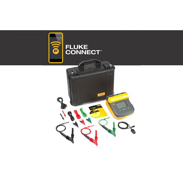 "Fluke FLUKE-1555/KIT Insulation Resistance Tester Upto 10 Kilo-Volt, 2 tera-ohm, 75 mm x 105 mm Large Digital/Analog LCD,"""