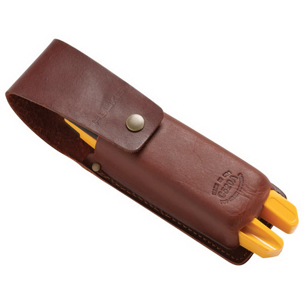 Fluke C520A Electrical Tester Carrying Case 12.200 Inch Depth, Button Snap, Leather, Brown,""