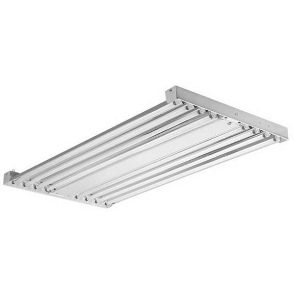 Elite Lighting SB-6-T5HO-L50K-PCSB120 6-Light Suspension/Surface Mount SB6 Series Sonic Beam Fluorescent High Bay Fixture; 54 Watt, High-Gloss Enamel, Lamp Included