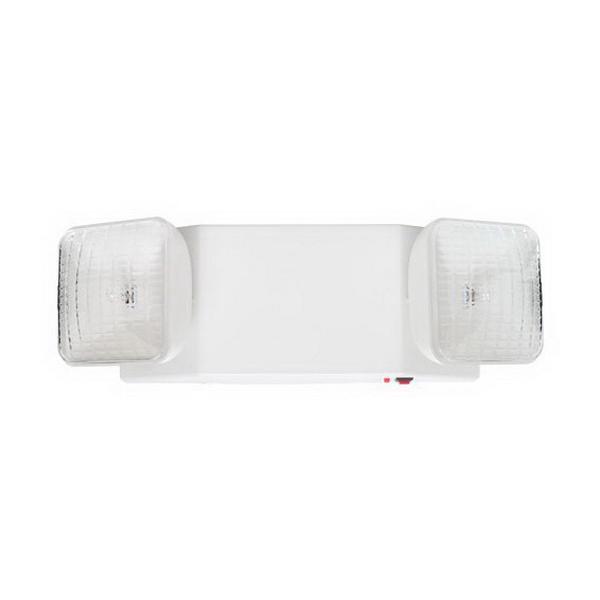 Elite Lighting ELM-803-W Maxilume Incandescent Emergency Light With Battery Back-Up; 120/277 Volt DC, 10 Watt, White