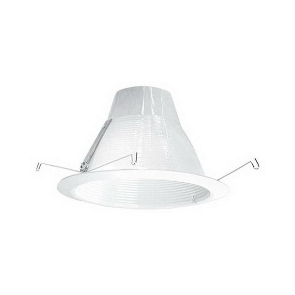 Elite Lighting AF637W-WH Ceiling Mount Socket Supporting 6 Inch Self Flange Air-Shut Baffle Trim; White