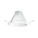 Elite Lighting AF637W-WH Ceiling Mount Socket Supporting 6 Inch Self Flange Air-Shut Baffle Trim; White