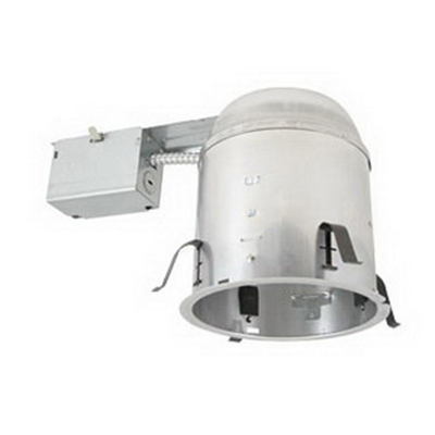 Elite Lighting B6RIC-AT 1-Light Ceiling Mount Thermally Protected Specification Grade 6 Inch Universal Remodel Housing; Die-Formed Aluminum, Medium Base Porcelain, Insulated