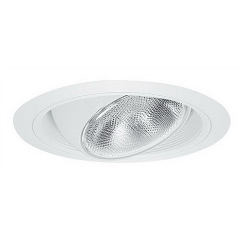Elite Lighting B609W-WH 6 Inch Trim With Eyeball and Regressed Baffle; White