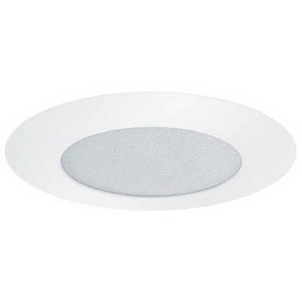 Elite Lighting B501WH 1-Light Ceiling Mount 5 Inch Trim With Lens; Metal Trim, Albalite Lens, White