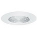 Elite Lighting B605W Ceiling Mount 6 Inch Shower Trim; Metal, White